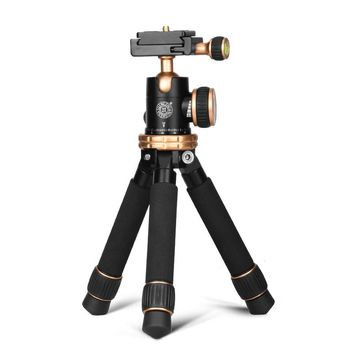 QingZhuang  Lightweight Compact Aluminum Desktop Mini Tripod with Ball Head DSLR Cameras suit for xiaomi phone /Nikon 0.45kg