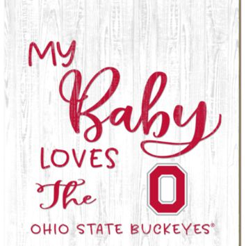 Ohio State Buckeyes | My Baby Loves | Sign | Wood | Rope Hanger | NCAA