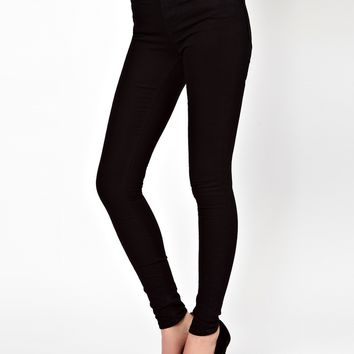 ASOS Ridley Supersoft High Waisted Ultra Skinny Jeans in Clean Black