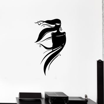 Wall Decal Eastern Girl Woman Silhouette Beautiful Vinyl Sticker (ed1143)