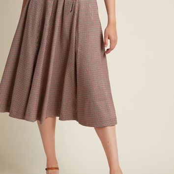 Woodland Wandering Lace-Up Midi Skirt