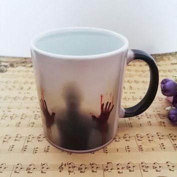 The Walking Dead mugs Daryl Dixon mugs morphing coffee mugs zombie mug novelty heat changing color reveal transforming Tea Cup
