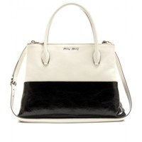 mytheresa.com -  Two-Tone Leather Tote - Miu Miu : mytheresa - Luxury Fashion for Women / Designer clothing, shoes, bags