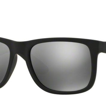 Cheap RAY-BAN JUSTIN Sunglasses RB4165 (622/6G) Rubber Black RRP-£130 outlet