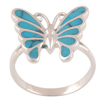 Unique Turquoise Ring in 925  Sterling Silver