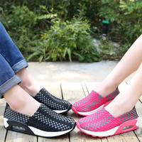 2016 Summer autumen Shoes men and women flats shoes, Fashion casual for outdoor lovers Woven elastic Shoes air cushion