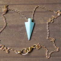arrowhead necklace amazonite arrowhead necklace by AdrianaSoto