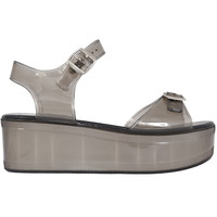 Platform Jelly Sandal - Smoke