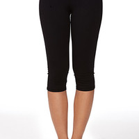 Contrast Layered Yoga Capris