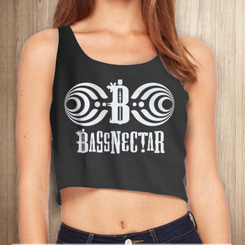Bassnectar DJ Music Women Crop Tanktop - tri1 Crop Tanktop For Women  / Custom - Crop Tanktop