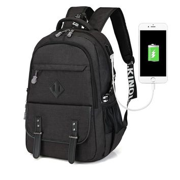 Large Capacity Laptop Backpack Men USB Design Bag Printing Women Backpack Man School Shoulders Bags Mochila RAYCELL