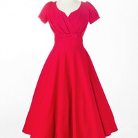 Reese Swing With Bows and Pleats Dress
