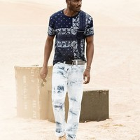 True Religion Bandana Pocket Mens T-shirt - Indigo