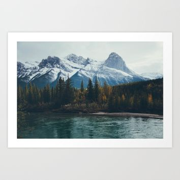 mountain river Art Print by bellehibou