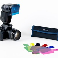 The Universal Flash Filter Kit (20-Color Rainbow Edition) - The Photojojo Store!