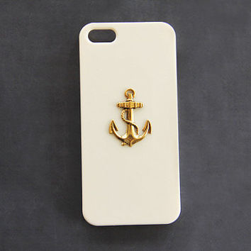 Beige Anchor Case iPhone 5s Anchor iPhone 5c Anchor Case Galaxy S4 Anchor Case Galaxy S3 Anchor Case Skin Anchor Phone Case Beige Ivory