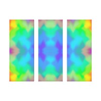 Rainbow Multicolored Watercolor Abstract Tie Dye Canvas Print