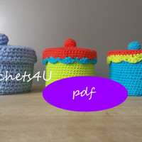 pattern crocheted box / crochet pattern / pdf