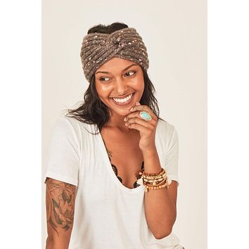 Bari Twist Knot Headband - Gray