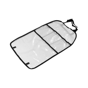 Car Seat Back Cover Protector Organizer Storage Bag Transparent Kick Mat