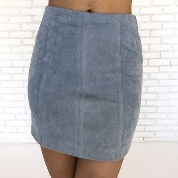 Making Moves Skirt in Blue
