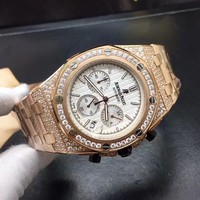 cc spbest AP automatic chrono full stones case golden
