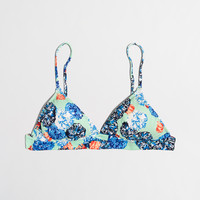 Factory floral bouquet triangle bikini top