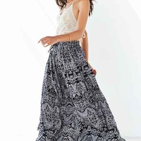 Band Of Gypsies Gauzy Printed Maxi Skirt