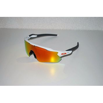 Oakley Radar EV Path Sunglasses OO9208-16 Polished White/Fire Iridium NEW