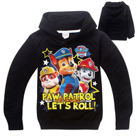 Boy Hoodies Paw Dog Patrol Clothes Children's Sweatshirts For Boys Cartoon Fashion Kids Hoodies Children  puppy patrol clothing