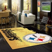 Pittsburgh Steelers NFL Team Fade Rug