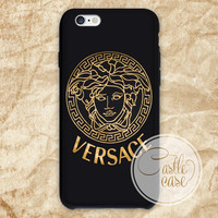versace gold iPhone 4/4S, 5/5S, 5C Series, Samsung Galaxy S3, Samsung Galaxy S4, Samsung Galaxy S5 - Hard Plastic, Rubber Case