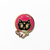 SPACE KITTY LUNA ENAMEL PIN
