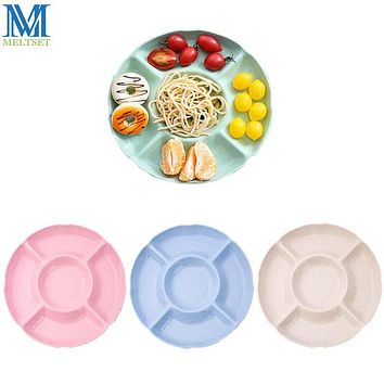 5 Lattice Fruit Tray Household Snack Plate Plastic Compote Dish Multifunctional Candy Dry Fruit Plates Grid Tableware