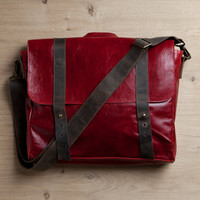 Satchel bag, red genuine leather bag, student backpack, cross body bag, School bag, red handbag, laptop bag, messenger flap bag, briefcase