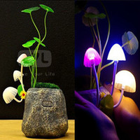Bonsai mushroom lamp colorful LED light  bedside lamp