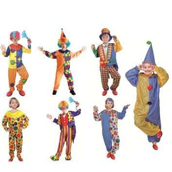 halloween costume for kids clown carnival costume boys tutu costumes for girls children clown costume party cosplay child kid