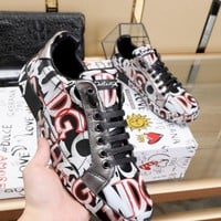 DOLCE&GABBANA  Men Casual Shoes Boots fashionable casual leather Women Heels Sandal Shoes