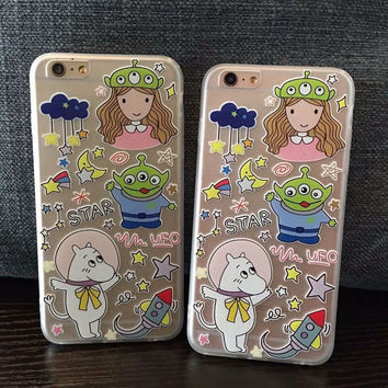 Hot Sale Stylish On Sale Hot Deal Iphone 6/6s Cute Cartoons Relief Sculpture Phone Case [4915506948]
