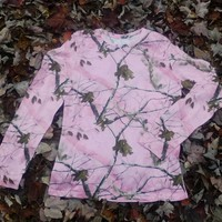 Lady Belle's Women's Long Sleeve Tee W/O Pocket - Pink Realtree Camouflage