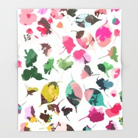 cherry blossom 3 Throw Blanket by Garima Dhawan