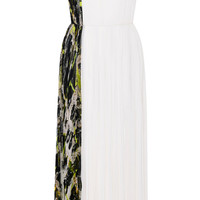 Central Park And Ivoire Silk Chiffon Tea Length Dress by J. Mendel - Moda Operandi