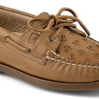 Sperry Top-Sider Authentic Original Anchor Embossed 2-Eye Boat Shoe SaharaEmbossedAnchors, Size 8M  Women's Shoes