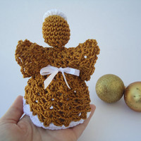 Crochet angel - Christmas ornament, angel in memory, top of the tree or a simple decoration
