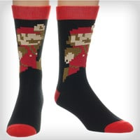 Super Mario Crew Socks
