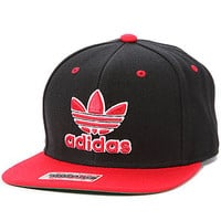 Adidas Hat Thrasher in Black and Light Scarlet