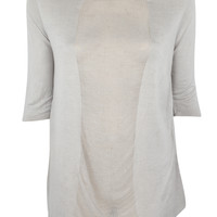 Silk and Jersey Boxy Tee
