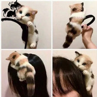 Hot Sale Japanese Style Mori Girl Lolita Kawaii Cat Head Hairbands Party Headdress Headwear Ornament Hair Hoop Accessories