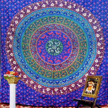 Hippie Tapestries Wall Hanging, Mandala Curtan, Wall Tapestries, IndianTapestry, Medallian Tapestries Wall Hanging, Bohemian Tapestries