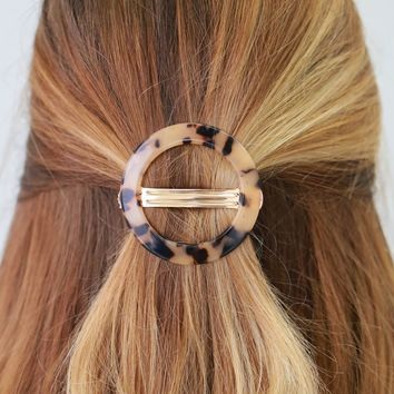 Circle Up Barrette - Cream